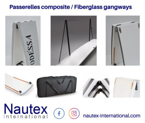 Fiberglass gangways by Nautex